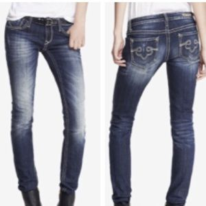 Re Rock for Express Skinny Low Rise Jeans